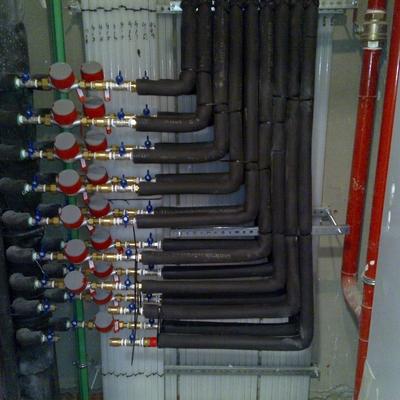 Bateria contadores agua calienta