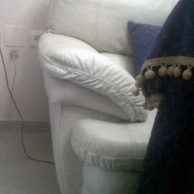 Brazo del sofá antes del tapizado