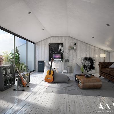 Un hogar, tres plantas y una buhardilla llena de música