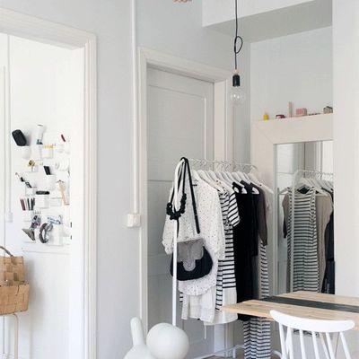 Soluciones para una habitación sin armarios
