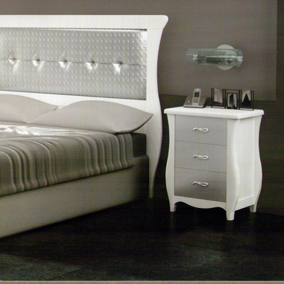 Cabecero de cama clasico gris blanco