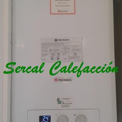 Instalación de calefacción a gas natural con caldera de condensación.