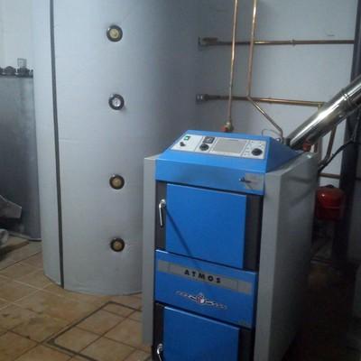 Caldera de gasificación de leña 35 kws ATMOS