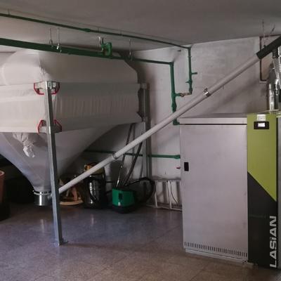 Sistema completo de calefaccion mediante caldera de pellets