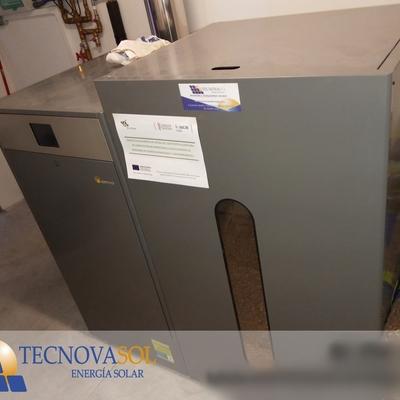 Instalación caldera de pellets de 25 Kw para vivienda unifamiliar
