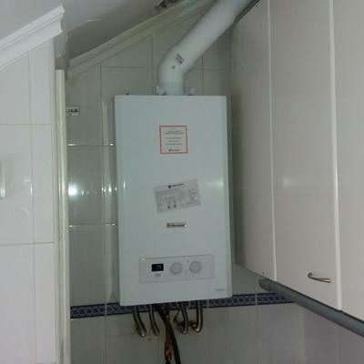cambio de caldera de condensacion y chimenea