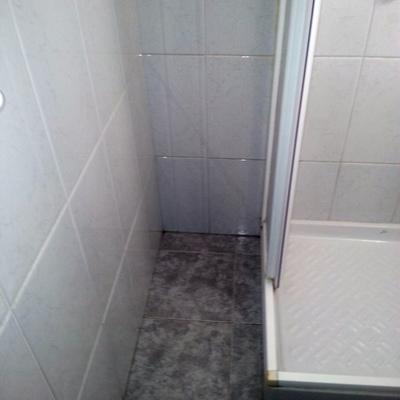 Cambio plato ducha antes