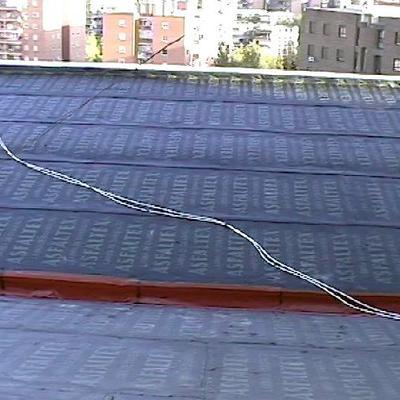 Canalon y primera lamina sobre los paneles