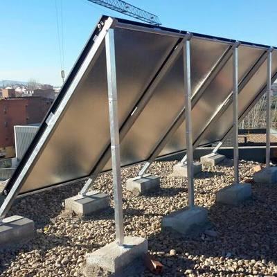 Instalación de energía solar térmica 20 viviendas