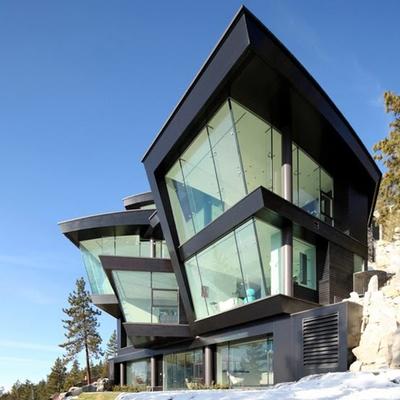 Casas de cristal que se funden con el entorno