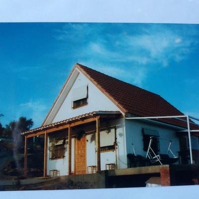 Casa de madera para la sierra.