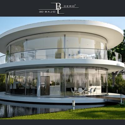 Casa Exteror en 3D