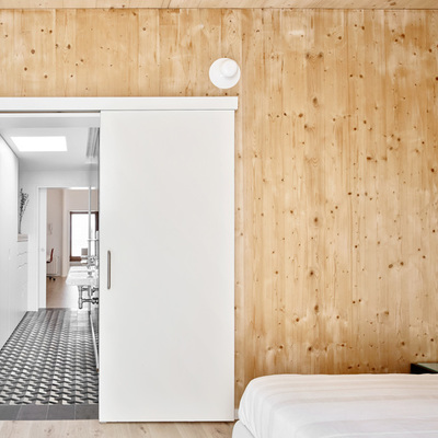 Casa pasiva de interior de madera