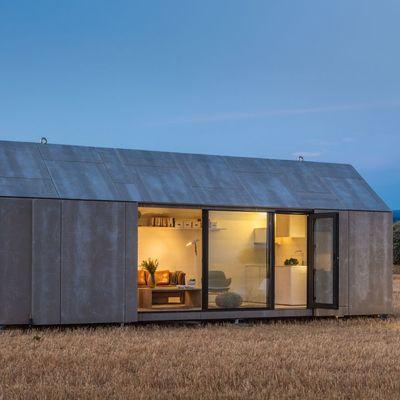 Armario caseta contenedor con ventana para terraza tico - Casas prefabricadas por modulos ...