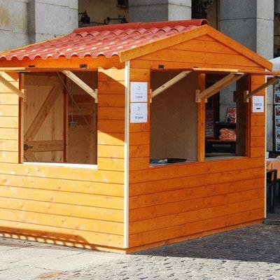 Caseta de madera de 3.00x2.00 m. - plaza mayor de madrid.