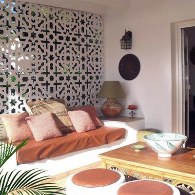 Celosía decorativa en porche