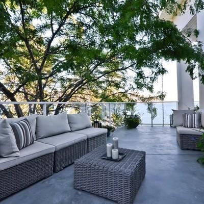 cemento pulido terraza