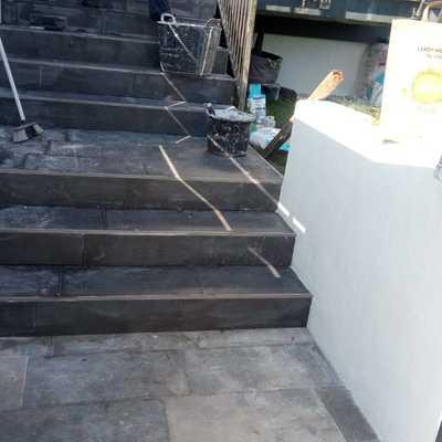 Cerámicos en escalera