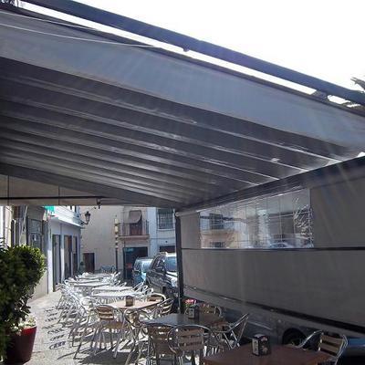 Cerramiento Plaza Cafe, Jerez C. Toldosur Extremadura