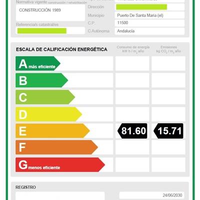 Certificado Energético en el Puerto de Santa María