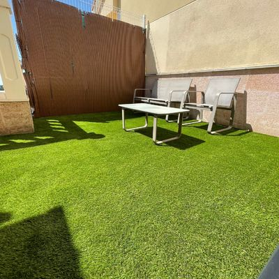 obra de jardineria en terraza