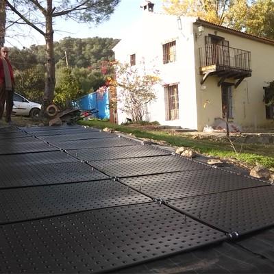 Climatización de piscina al aire libre