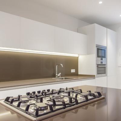 Una casa espectacular con suelos de microcemento y baldosa hidráulica