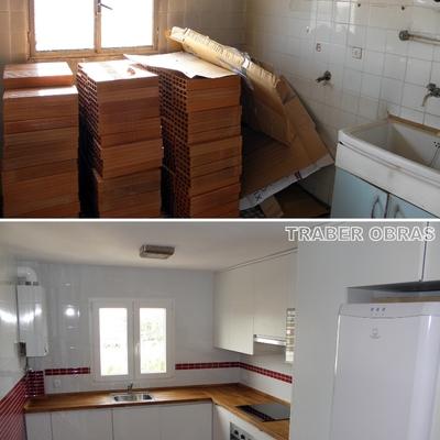 Cocina antes y después.