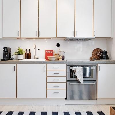Cocina blanca estilo nórdico