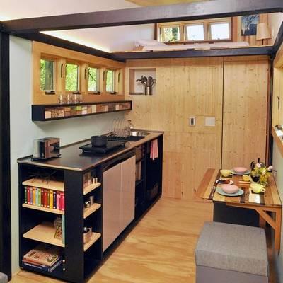 Cocina casa madera