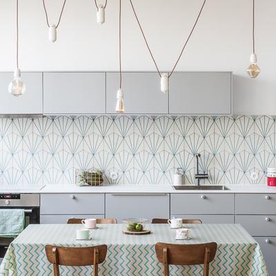 cocina con alicatado de mosaico