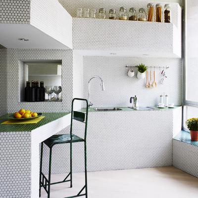 Cocina con mobiliario integrado