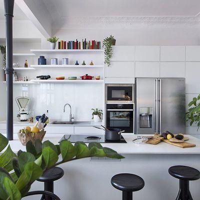 5 grandes soluciones a cocinas pequeñas