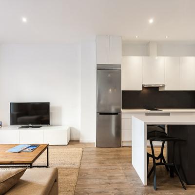 Una reforma que convirtió 50 m² en una vivienda abierta y espaciosa