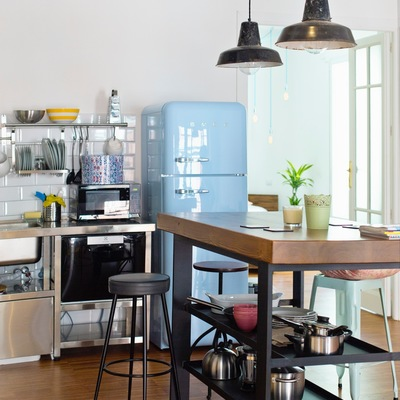 Cocina estilo vintage en loft