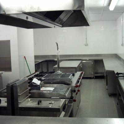 Cocina industrial.