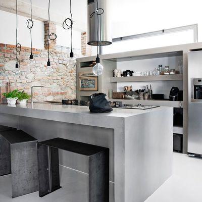 8 cocinas de microcemento que te enamorarán