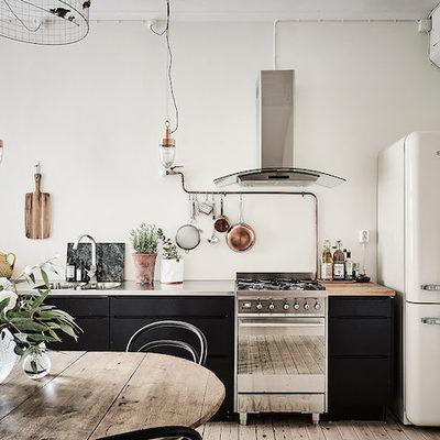 Cocina muebles en negro