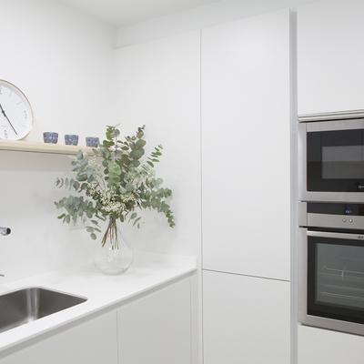 Una cocina pequeña y práctica