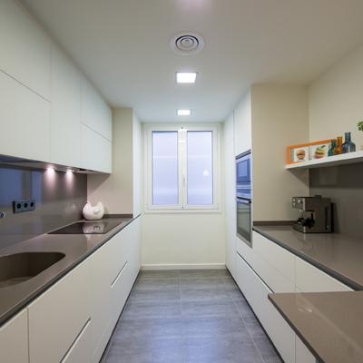 Un piso de 80 m² que ganó amplitud