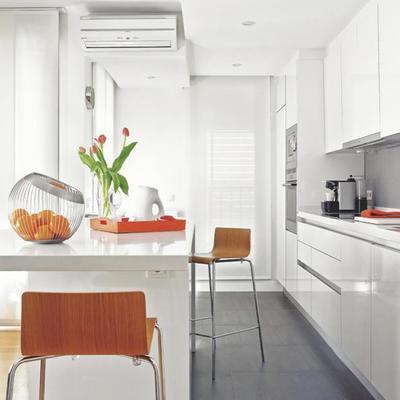 cocina tipo Ikea con isla