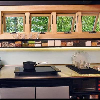 Cocina y ventanas minicasa