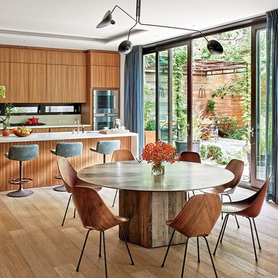 Cocinas revestidas de madera