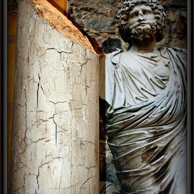 Columna romana craqueada
