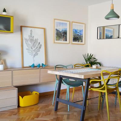 Una casa que transmite alegría y calidez en Madrid