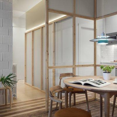 Una casa transparente y natural
