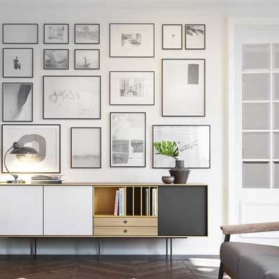 Cómo crear una galería de cuadros en tu pared