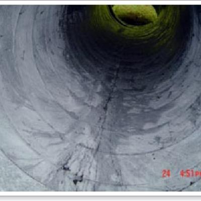 Conducto de campana extractora limpio