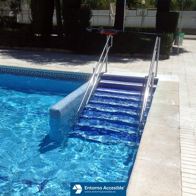 Presupuesto adaptar accesos discapacidad online habitissimo for Escaleras para piscinas de obra