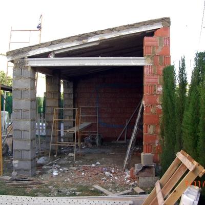Construccion porche paellero